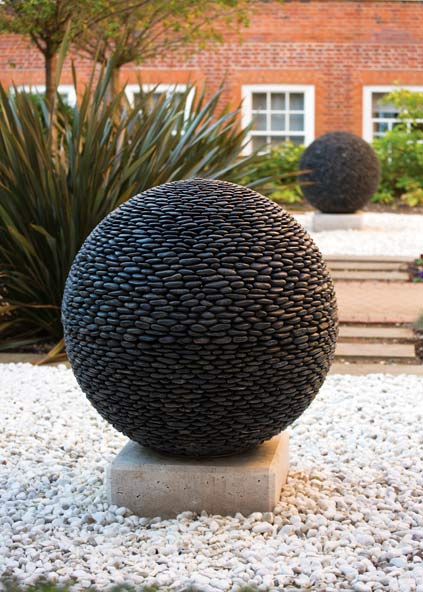 Awesome ... Perfect Sphere With The Apparent Mass Of Hundreds Of Perfectly  Positioned Pebbles, The Dark Planet Garden Sphere Will Pull Even The Most  Casual Observer ...