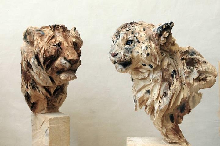 African wood sculptures african animals craft montaz