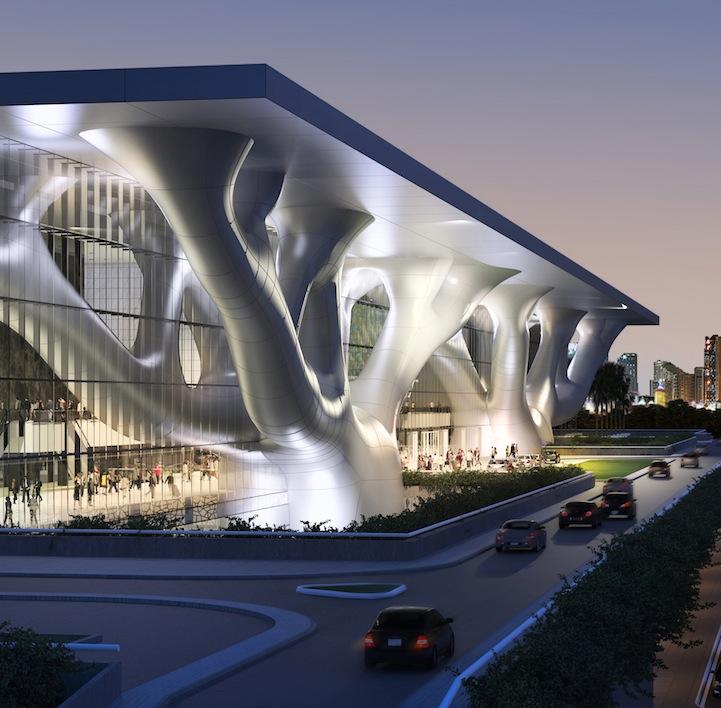 Modern architecture qatar 39 s sidra tree convention center for Modern house qatar