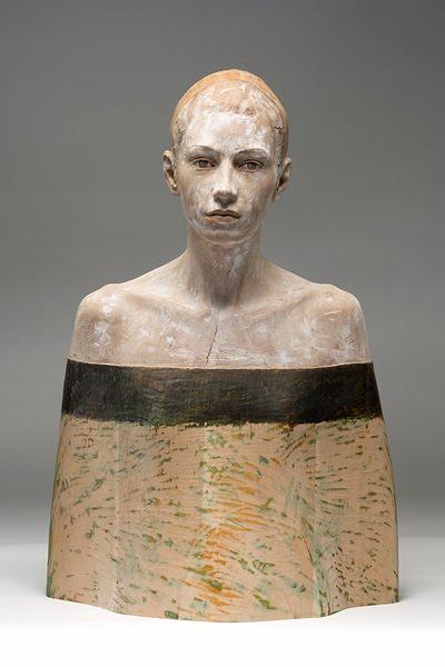 Lifelike Wood Sculptures of Pensive Men and Women