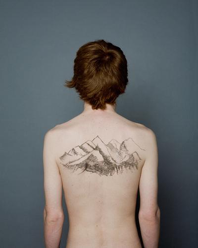 tranquil human backscapes