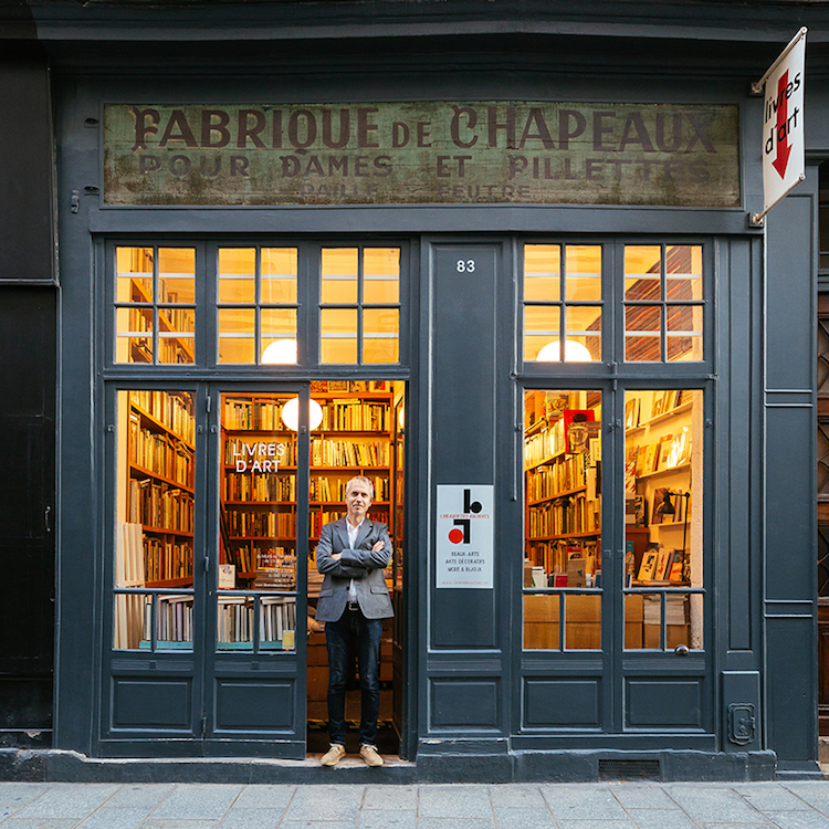 Parisian Art Bookshop Is A Hallmark Of Traditional Storefront