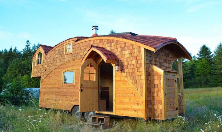 Quaint And Quirky Tiny House On Wheels Lets Owners Live Off-The-Grid