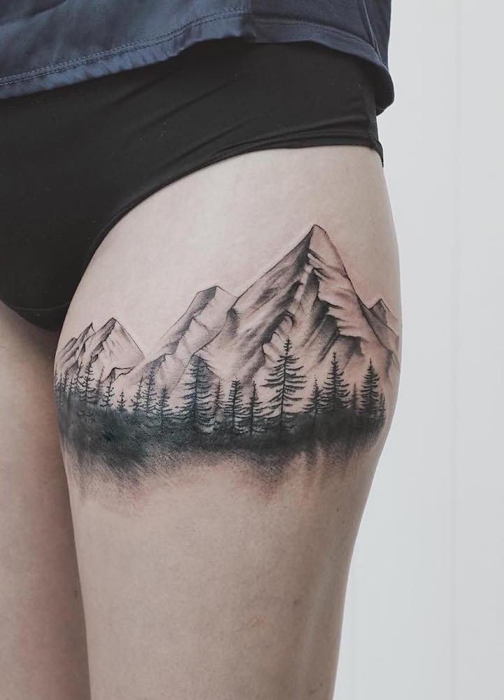 Delicate Tattoos Fuse The Graceful Beauty Of Nature With Structured Geometry