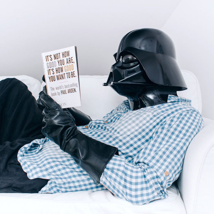 photographer humorously imagines darth vader with a daily. Black Bedroom Furniture Sets. Home Design Ideas
