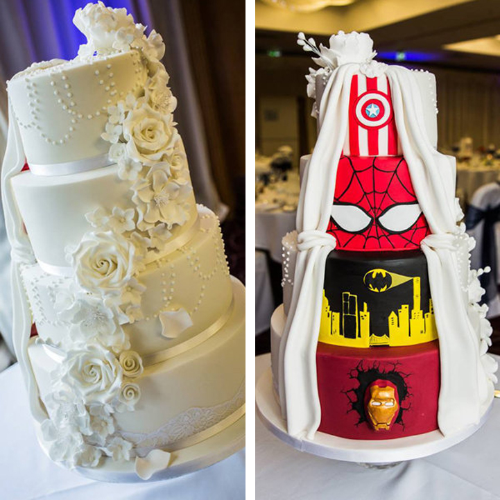 Grooms Wedding Cake Ideas: Bride And Groom Combine Two Visions Into One Incredible