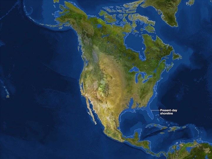 Maps of What the Earth Would Look Like If All Ice Melted