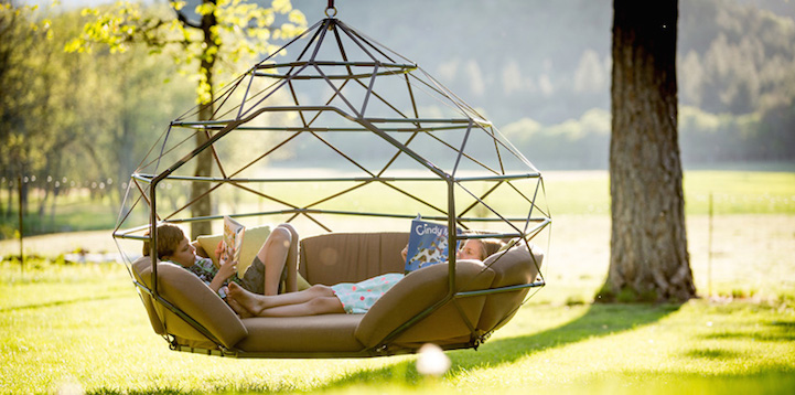 Outdoor Geometric Structure Is The World S First Hanging Zome