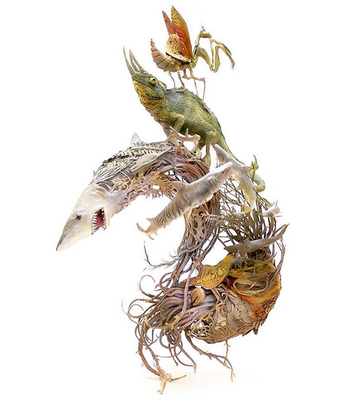 Surreal Animal Sculptures Fuse The Intricate Beauty Of Earth With - Surreal animal plant sculptures ellen jewett