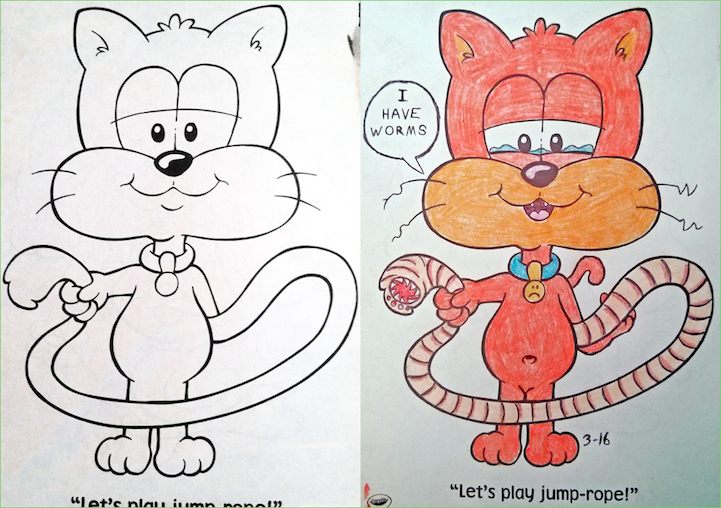 Hilarious Coloring Book Images Corrupted from an Adult\'s Perspective