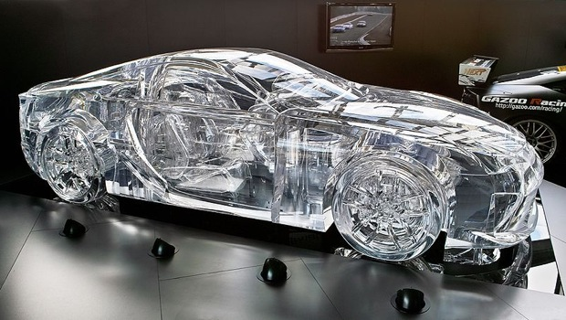 According To Lexus, The Sculpture Is Constructed From Transparent Acrylic  Boards That Have Been Sanded And Polished.