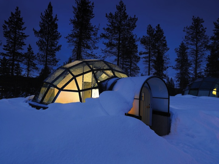 glass in igloo finland