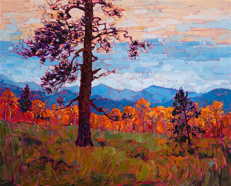 Vibrant Landscape Paintings Use The Color Orange To