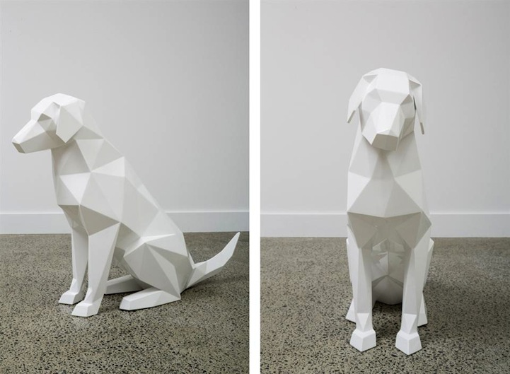 Stark White Geometric Animal Sculptures By Ben Foster