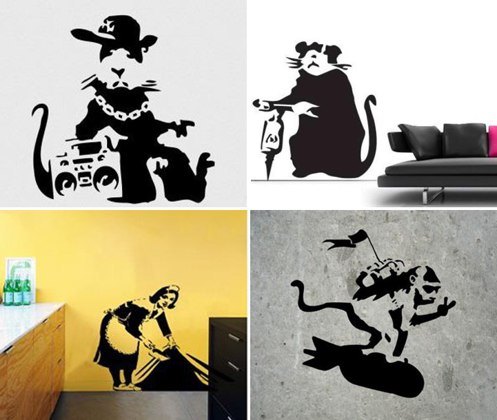 Banksy\'s Famous Street Art Inside Your Home
