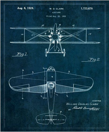 Famous Inventions Showcased In Stylish Vintage Blueprints