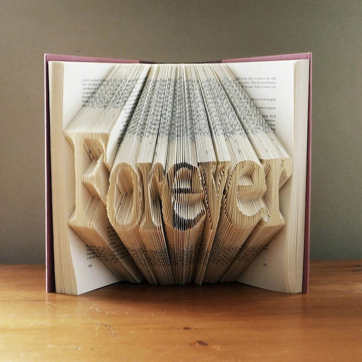 Amazing Folded Book Art Transforms Book Pages Into Sculptures