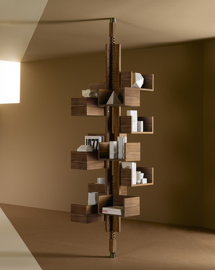 Modern free standing bookcase designed to mimic a tree for Tree of life bookshelf