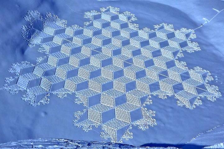 Amazing Geometric Snowshoe Art of Simone Beck - YouTube