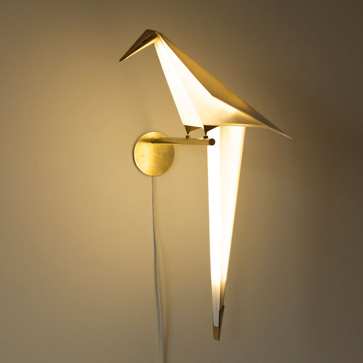 Poetic Origami Bird Lamps Illuminate Their Surroundings When Set In