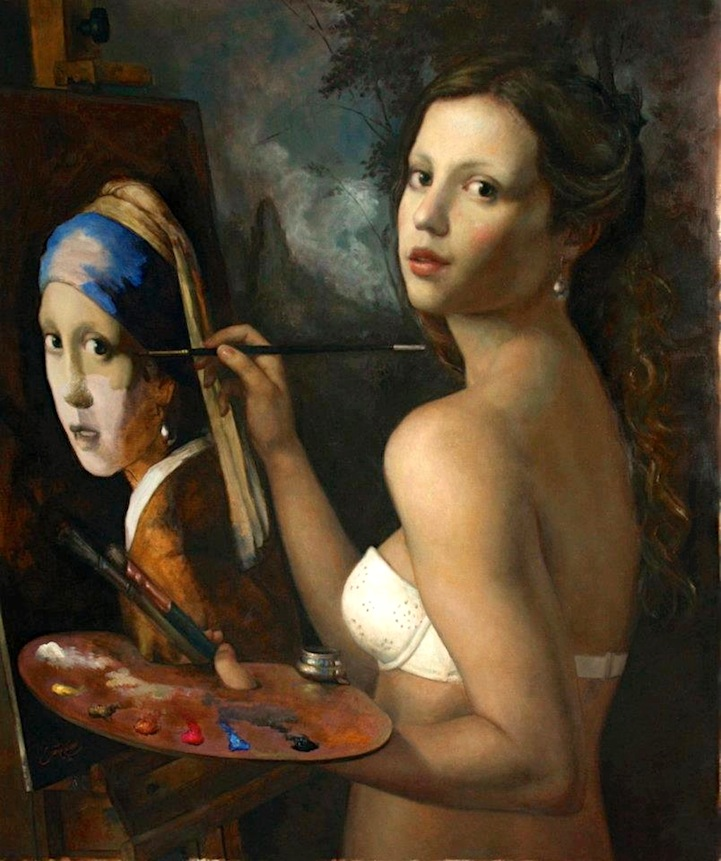 Artist Creatively Re Imagines Iconic Paintings