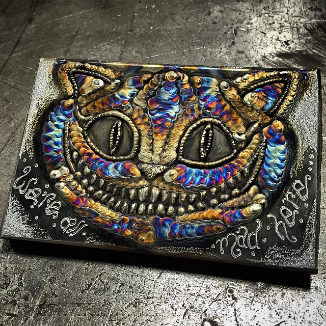 23 Year Old Welds Metal Canvases To Create Psychedelic Portraits