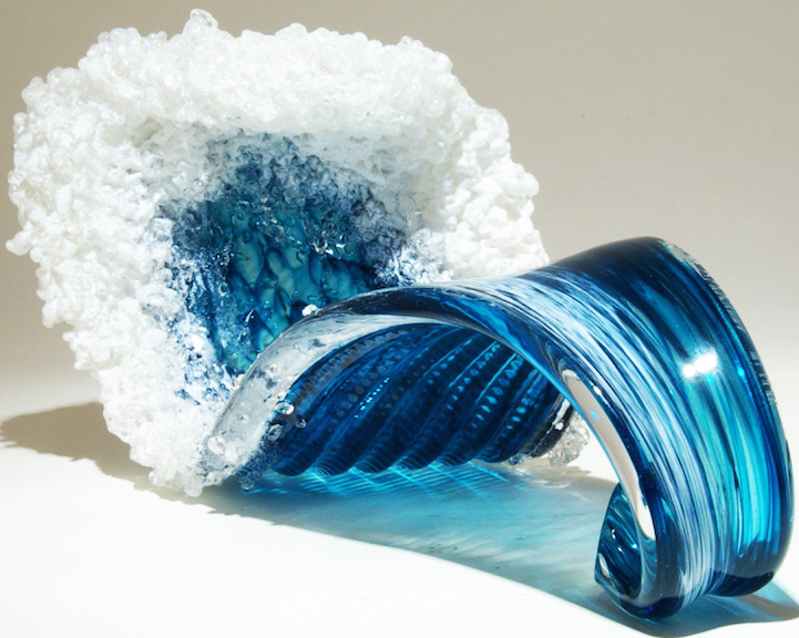 Ocean Inspired Glass Vases And Sculptures Capture The