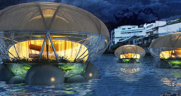 Solar Powered Jellyfish Shaped Lodge