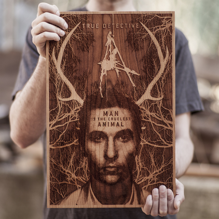 Beautiful Laser Engraved Wooden Posters By Spacewolf Ltd
