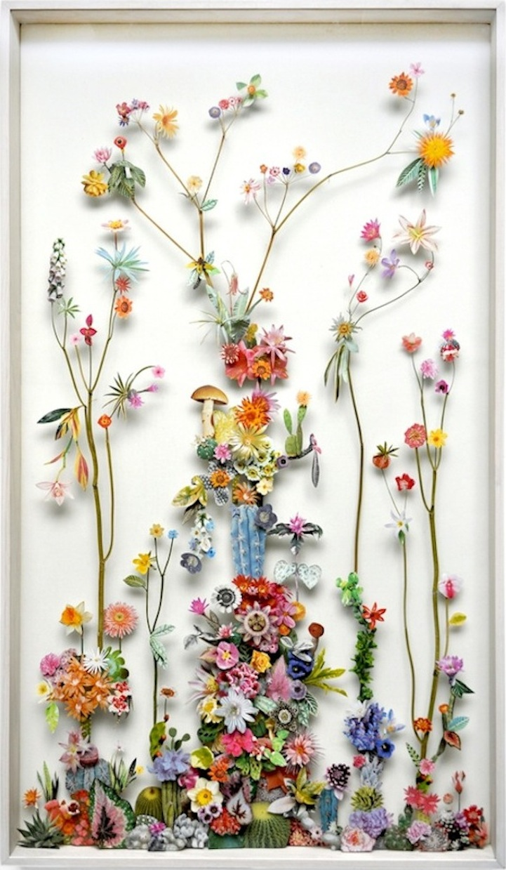 Recycled Materials Form Ornate Flower Sculptures My Modern Met