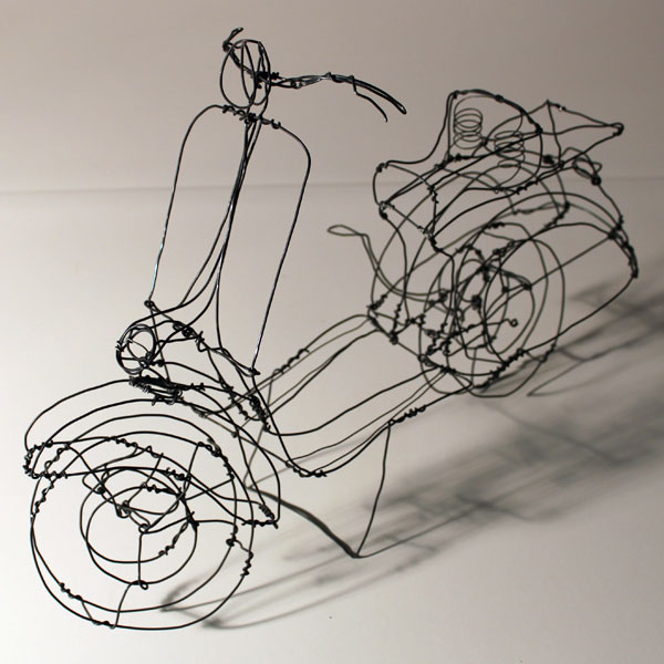 Playful Three-Diional Wire Sculptures on