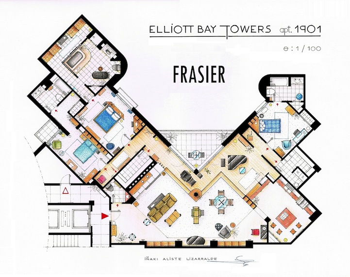Detailed floor plan drawings of popular tv and film homes will grace malvernweather Image collections