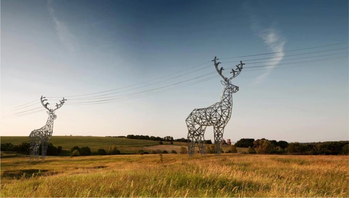Extraordinary Deer Shaped Electrical Towers