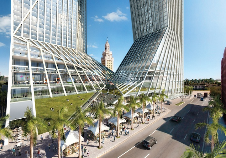 Modern Architecture Miami modern architecture: see-through tower (4 pics)