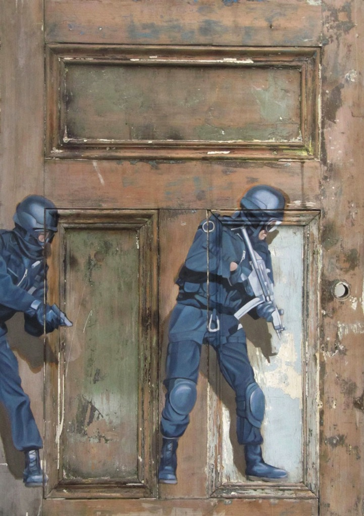 Intriguing Old Paintings On Worn Doors