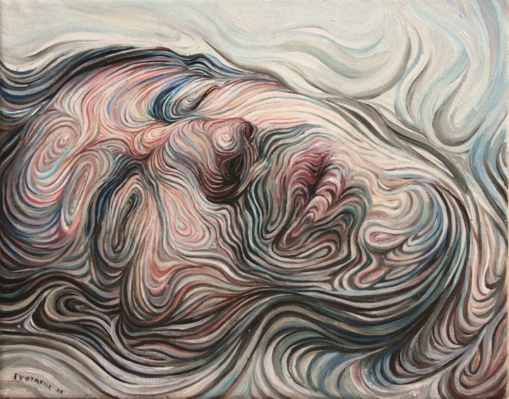 The Line Artist : Swirling lines form psychedelic portraits