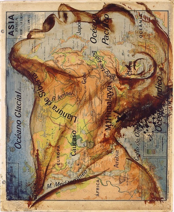 Incredible paintings on maps unify countries gumiabroncs Choice Image
