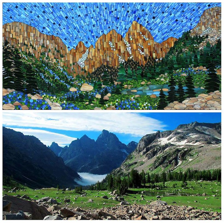 Vibrant Stained Glass Mosaics Of Classic American Landscapes