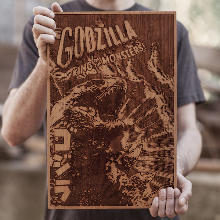 Beautiful Laser-Engraved Wooden Posters by SpaceWolf Ltd