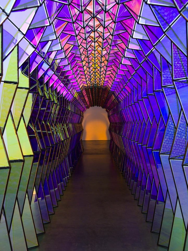 Mesmerizing Tunnel Looks Like A Colorful Kaleidoscope When