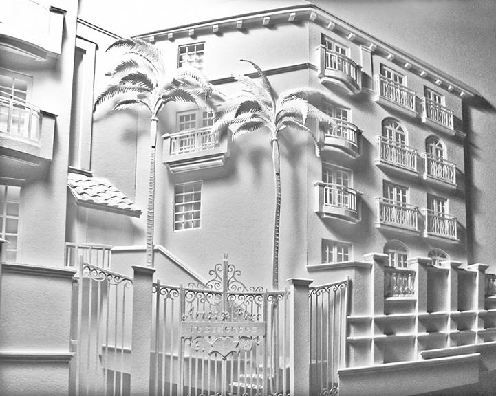 Architect Constructs 3D Cityscape Paper Sculptures