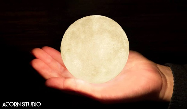Full Moon Lamp Provides Mystical Glow to Set Tranquil Mood