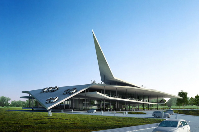 Modern Architecture Museum modern architecture: china's drive-in car museum (5 pics)