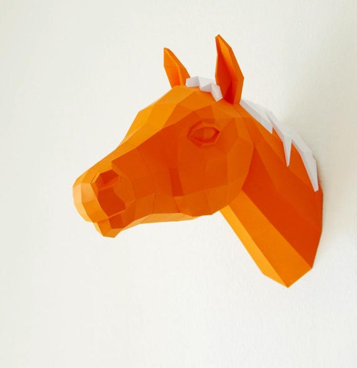 Artist Designs Diy Paper Templates For Adorable 3d Geometric Animals