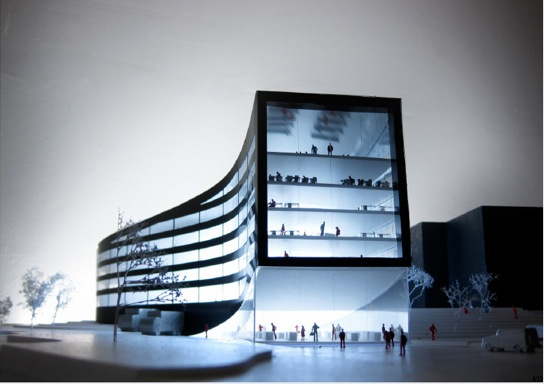 Modern office architecture Reception Lobby Credit Goes To Jaja An Architecture Office Based In Copenhagen Denmark Who Has Revealed This Proposal For An Office And Shop My Modern Met Modern Architecture Ormen Lange Norway My Modern Met