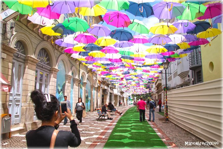 New Colorful Canopy Of Umbrellas Graces The Streets Of