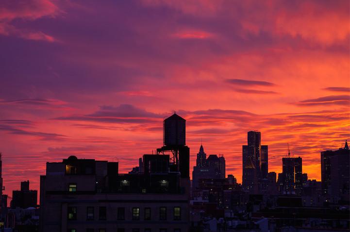 Inner City Building In Sunset