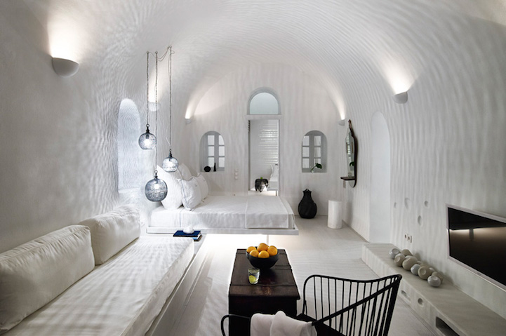 Sea Captains House A Luxury Hotel That Overlooks The Gorgeous Seaside Landscape On Santorini Island Lodging Which Was Once 19th Century