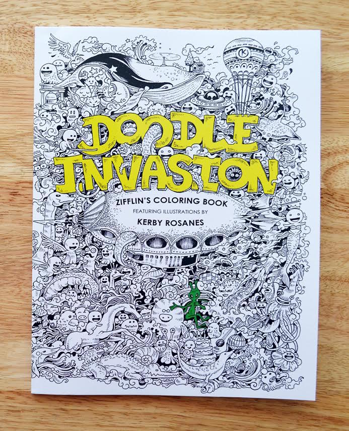 doodle invasion the highly detailed coloring book that adults love - Detailed Coloring Books