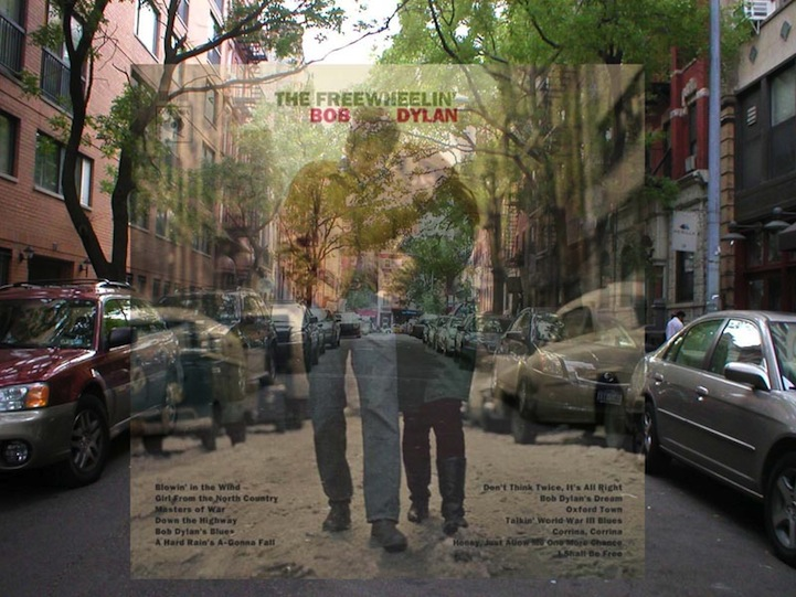 Vinyl Covers Transposed Over Original Nyc Locations